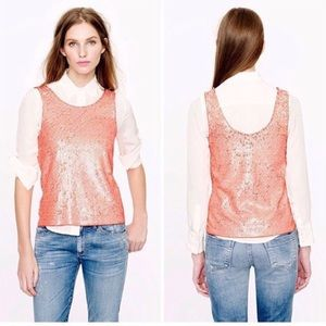 NWT J. Crew Heathered Sequin Scoop Neck Tank Top